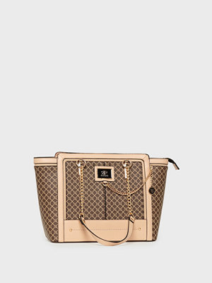 River Island mönstrad axelväska Monogram Winged Tote Bag