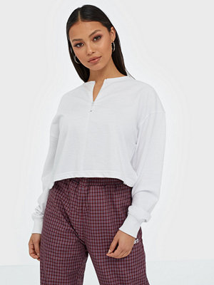 Missguided Zip Crop Sweatshirt