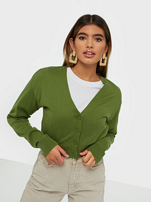 Tröjor - NLY Trend Cropped Cardigan Knit