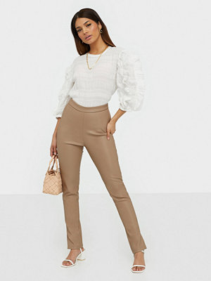 Ivyrevel omönstrade byxor Pu Side Slit Trousers