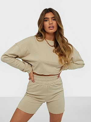 Missguided Cropped Sweat & Shorts Set