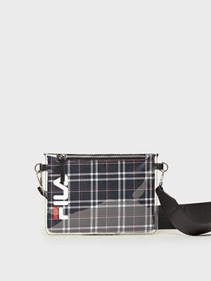 Fila svart rutig axelväska Transparent Cross Body Bag