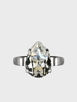 Caroline Svedbom Mini Drop Ring Rhodium