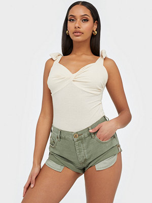 One Teaspoon Super Khaki Bandits Denim Short