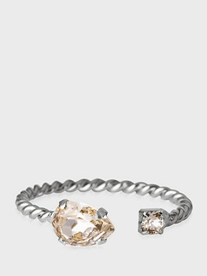 Caroline Svedbom Nani Ring Rhodium Crystal
