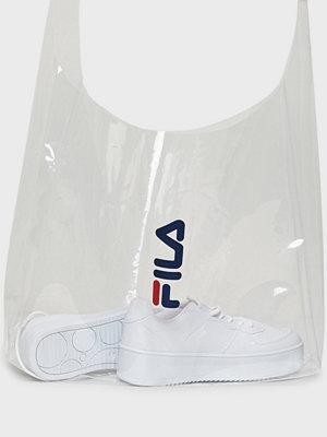 Fila vit axelväska Transparent City Shopper Bag