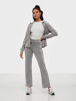 Gina Tricot grå byxor Cecilia Velour Trousers