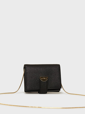 The Marc Jacobs svart axelväska Small Card Case W/ Chain