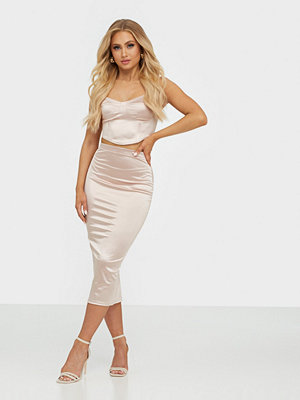 NLY One Satin Midi Skirt