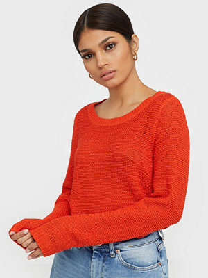 Only onlGEENA Xo L/S Pullover Knt Noos Orange
