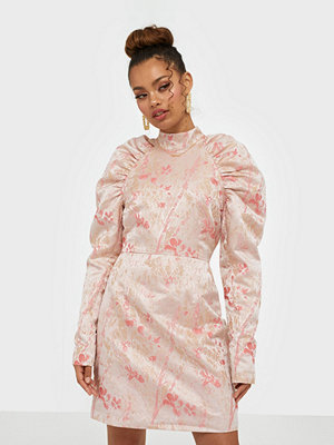 Glamorous Long Sleeve Brocade Dress