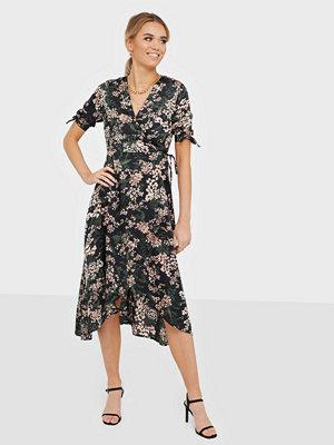 Ax Paris Wrap Flower Midi Dress