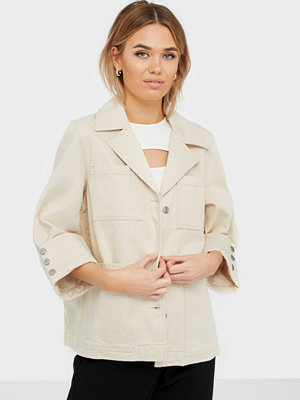 Jeansjackor - Selected Femme Slfhelena Jade White Denim Jacket W