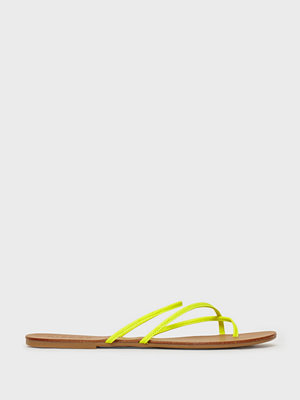 Pieces Psannie Neon Leather Sandal