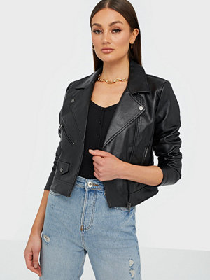Skinnjackor - Only Onlenya Faux Leather Biker Cc Otw