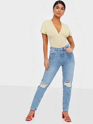 Only himmelsblå byxor Onlsally Mom Straight Destory Jeans