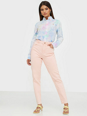 Pieces Pcleah Mom Hw Ank Colour Acid Jeans