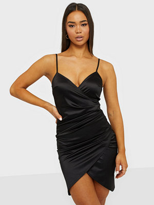 NLY One Satin Wrap Strap Dress