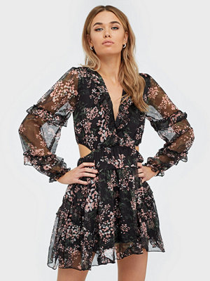 Ax Paris Flower Mesh Mini Dress