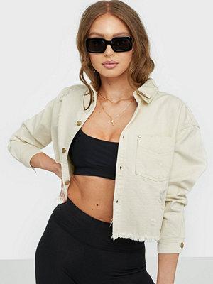 Only Onlbree Ls Ecru Shirt Dnm Jacket Yo