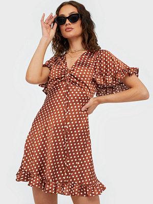 Ax Paris V Neck Dot Dress