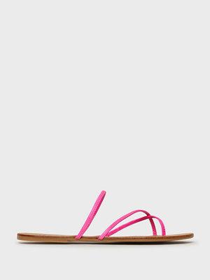 Pieces Psannie Neon Leather Sandal