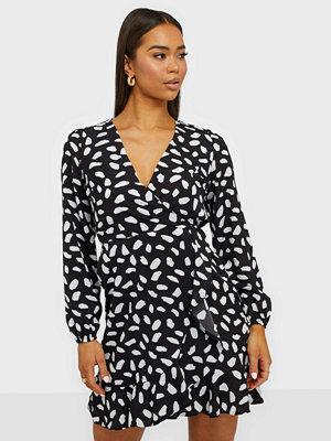 Ax Paris V Neck Long Sleeve Mini Dress