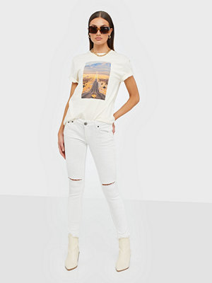 One Teaspoon vita byxor White Freebirds Ii Low Waist Skinny Jean