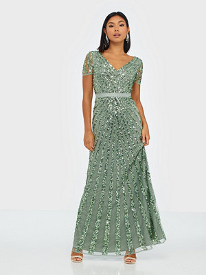 Maya Embellished Short Sleeve Maxi Dress