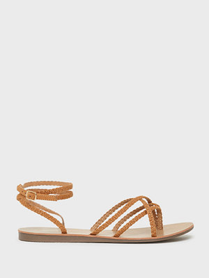 Only Onlmaya Mf Braid Ankle Wrap Sandal