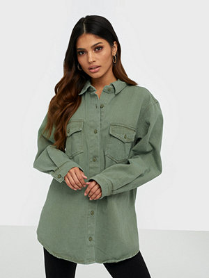 Missguided Oversized Denim Shirt Co-Ord