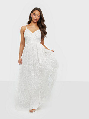 Maya Strappy V Neck Bridal Maxi Dress
