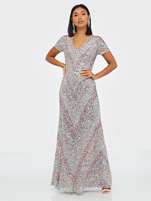 Maya Multi Embellished Short Sleeve Maxi Dress
