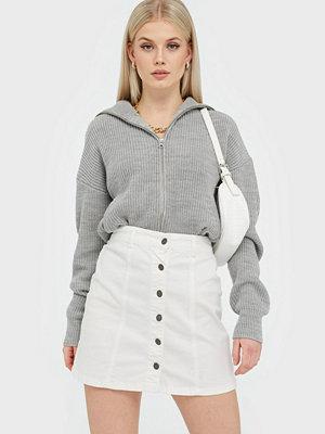 Jacqueline de Yong Jdynewyfive Button Skirt Dnm Jj