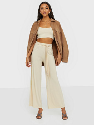 NLY Trend omönstrade byxor Flowy Tie Pants