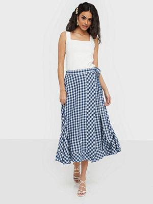 Polo Ralph Lauren Gingham Linen Wrap Skirt