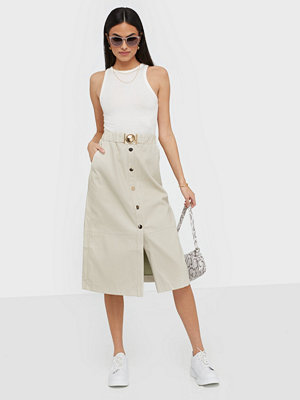 River Island Memphis PU Midi Skirt