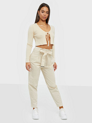 Calvin Klein byxor Cotton Paper Bag Waisted Pant