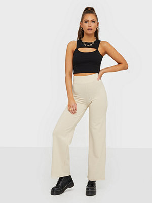 NLY Trend omönstrade byxor Crepe Straight Pants