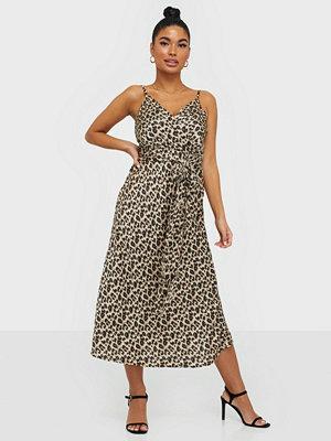 Ax Paris Satin Leopard Dress