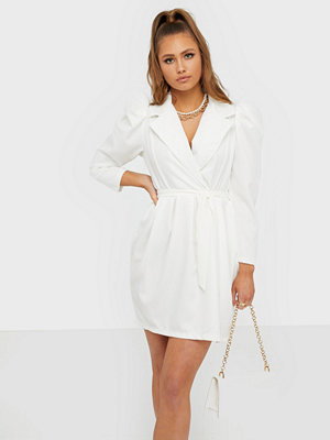 Parisian Puff Sleeve Wrap Mini Dress