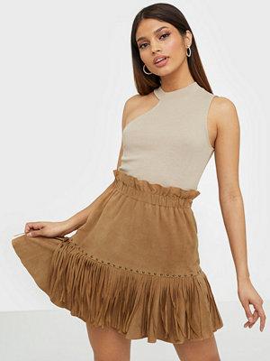 Y.a.s Yasanna Hw Suede Fringe Skirt - Fes