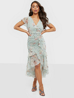 Forever New Ruched Wrap Midi