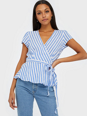 Polo Ralph Lauren Striped Linen Wrap Blouse