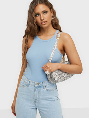 NLY Trend High Neck Rib Top