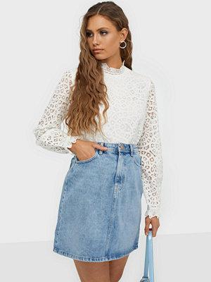 Pieces Pclou Hw Denim Skirt LB133-Vi