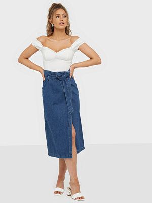 Selected Femme Slfdemina Hw Inky Blue Denim Skirt