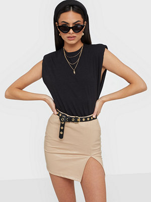 NLY Trend Structure Pu Mini Skirt