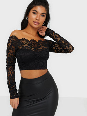 NLY One Off Shoulder Lace Top
