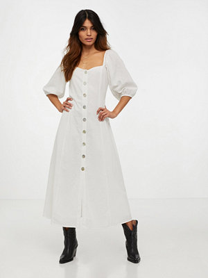 Glamorous Half Sleeve Button Midi Dress